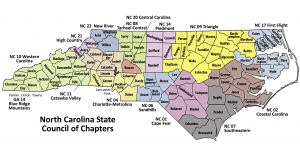 Counties Served by TarHeel Central Chapter